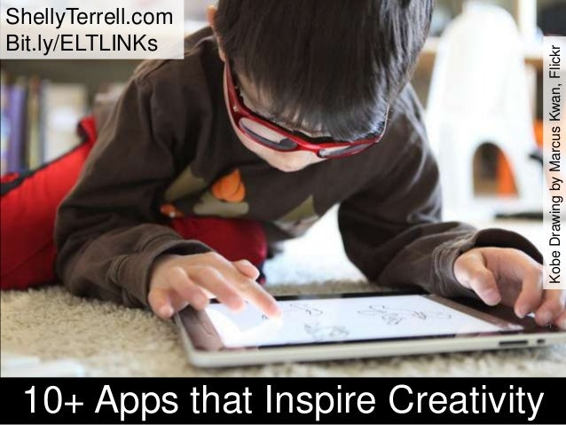 ShellyTerrell.com Bit.ly/ELTLINKs 10+ Apps that Inspire Creativity KobeDrawingbyMarcusKwan,Flickr