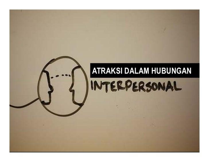 ATRAKSI DALAM HUBUNGANPSIKOLOGI KOMUNIKASI – 09 ATRAKSI DALAM HUBUNGAN INTERPERSONAL / Hal. 1