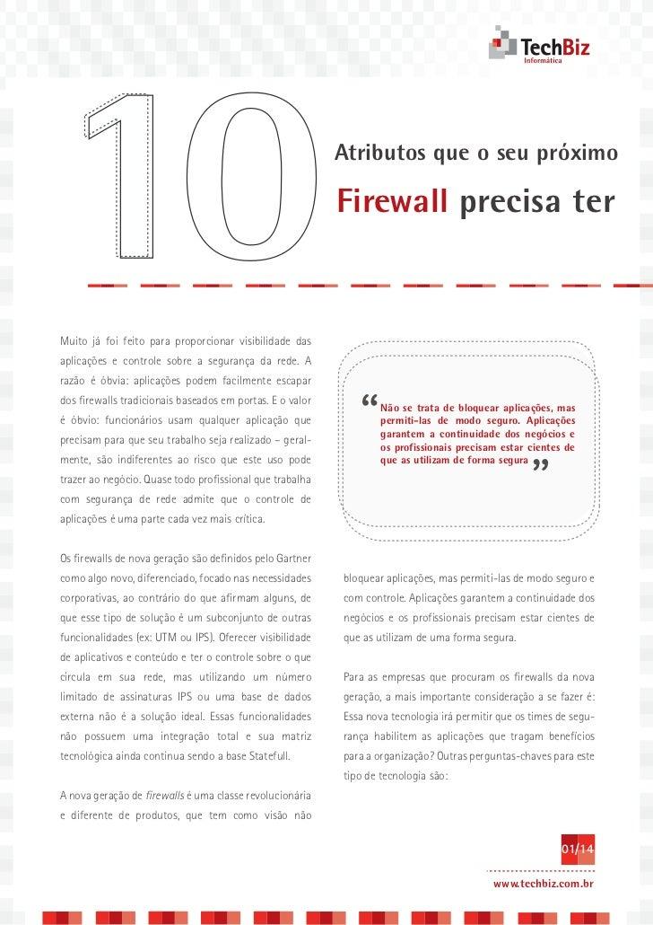 10 atributos que o seu firewall precisa ter