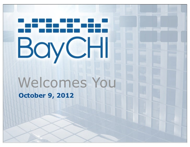 Welcomes YouOctober 9, 2012