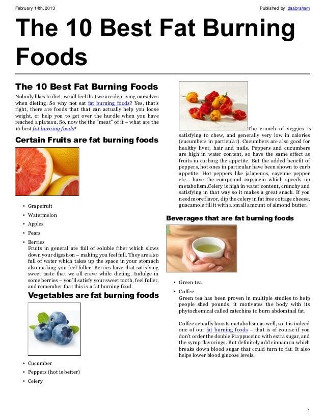 Best fat burning meal plan