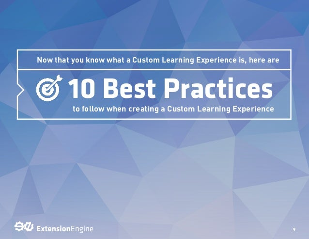 best and worst learning experience Elements of training design include establishing learning objectives,  this  paper will analyze both the best and worst training experiences that i have come .