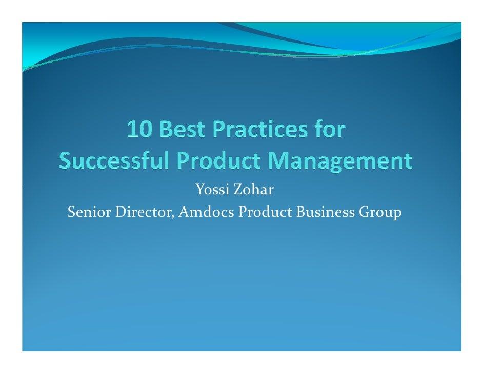 Yossi Zohar Senior Director, Amdocs Product Business Group