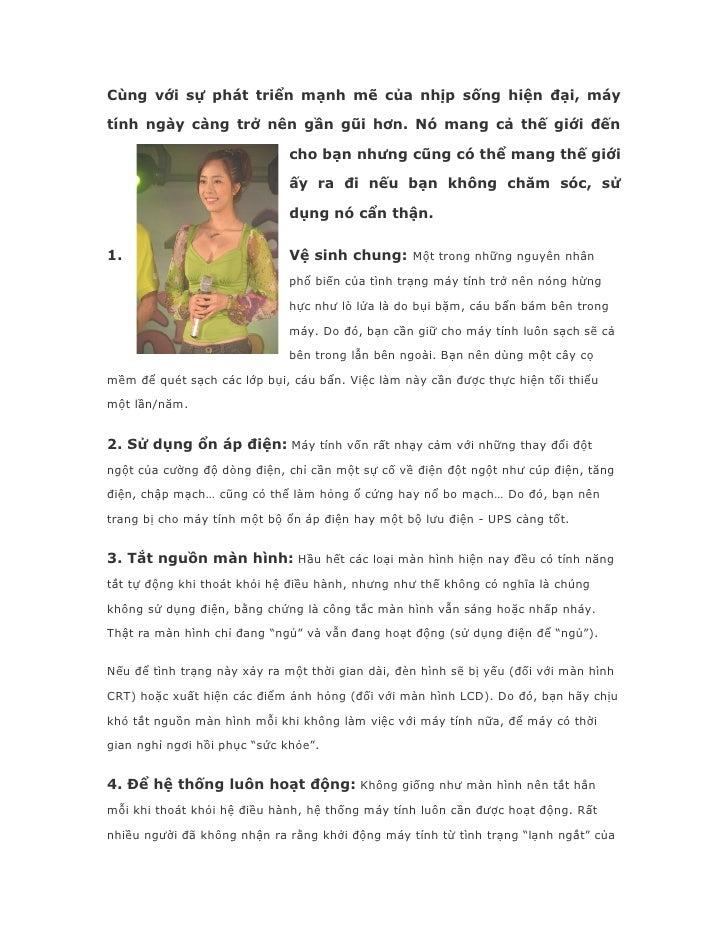 10 Bi Quyet Su Dung May Tinh Ben Lau
