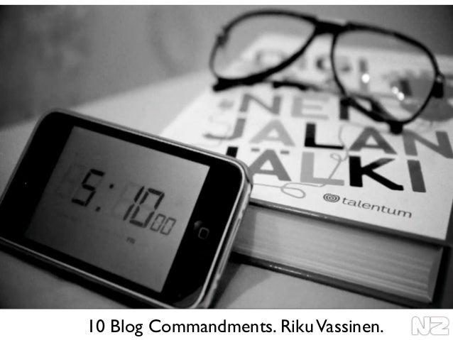 10 Blog Commandments