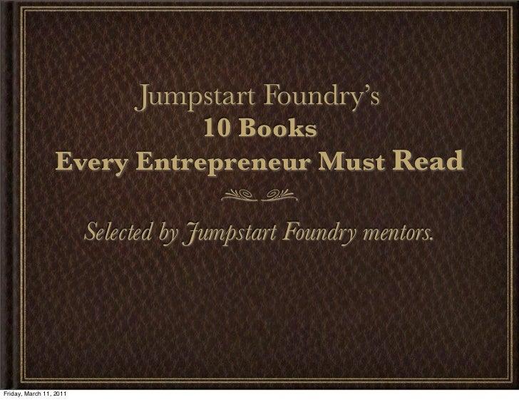 10 Books Every Entrepreneur Must Read
