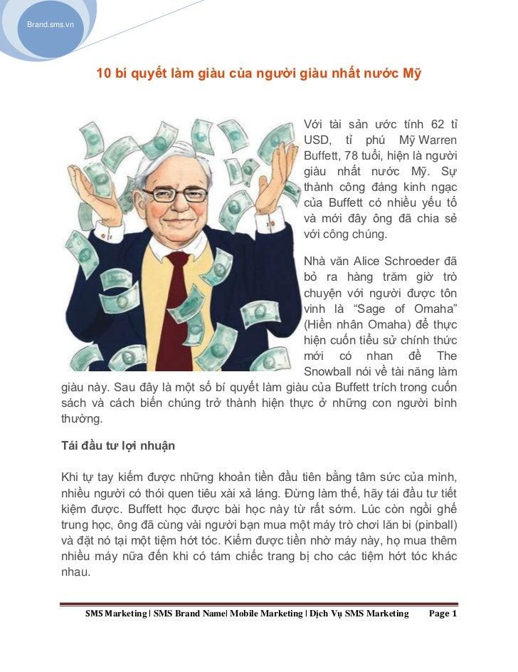 Brand.sms.vn                 10 bí quyết làm giàu của người giàu nhất nước Mỹ                                             ...