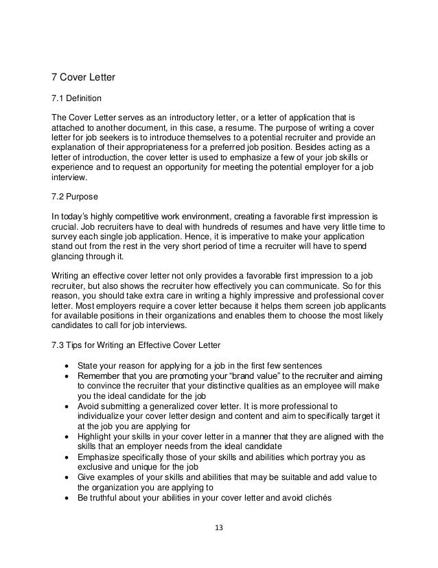 resume and cover letter meaning