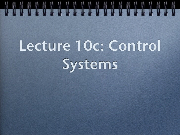 10c; control systems