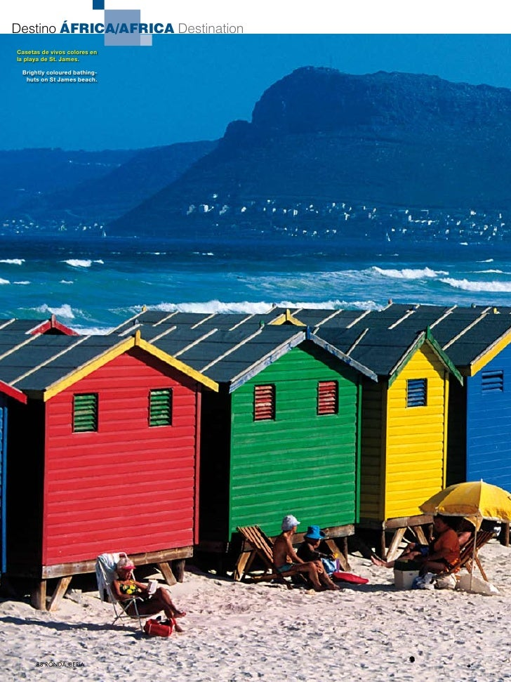 Destino África/africa DestinationCasetas de vivos colores enla playa de St. James. Brightly coloured bathing-  huts on St ...