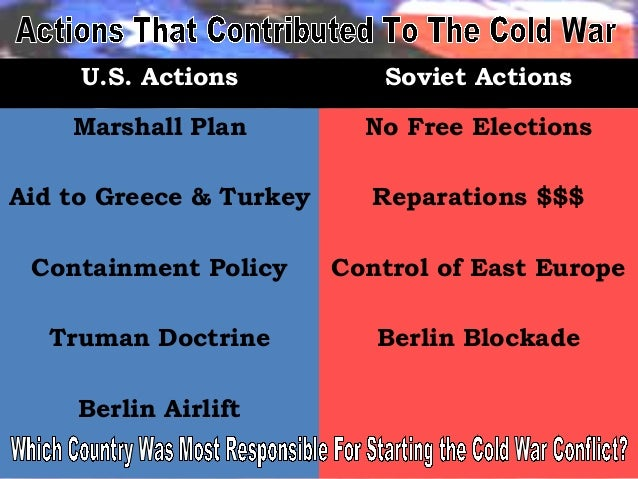 Cold War Chart Led Toincreased Cold War