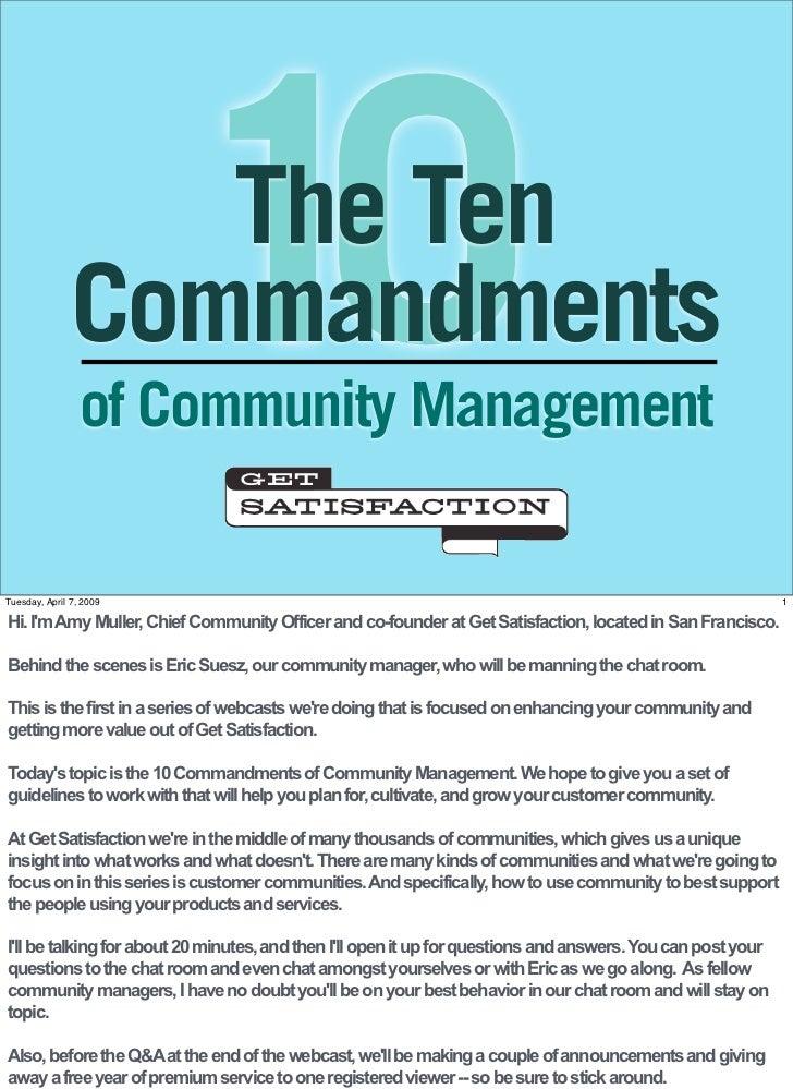 The 10 Commandments of Community Management (PDF)