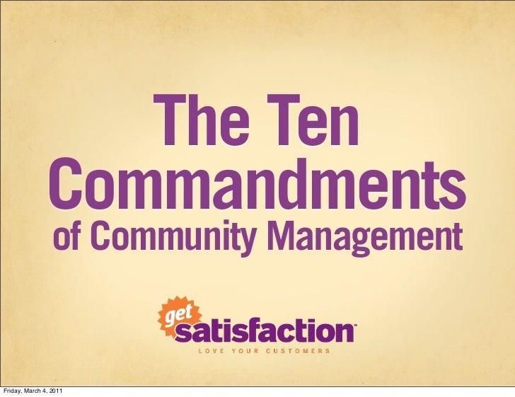 10 Commandments of Community Management (2011)