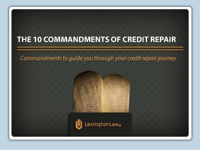 The 10 Commandments of Credit Repair