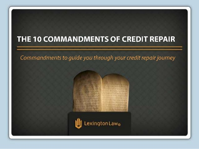 The 10 Commandments of Credit Repair
