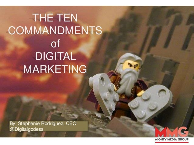 The 10 Commandments of Digital Marketing