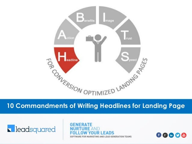10 Commandments of Writing Headlines for Landing Page