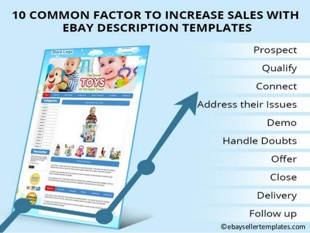 10 common factor to increase sales with e bay description templates. Black Bedroom Furniture Sets. Home Design Ideas