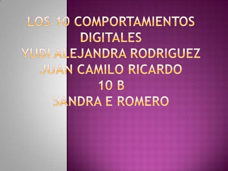 10 comportamientos digitales