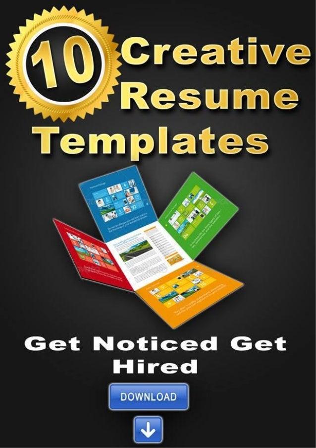 10 creative resume templates