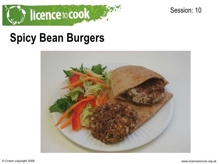 10c Spicy Bean Burgers