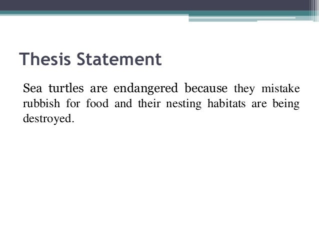 Pollution thesis statement