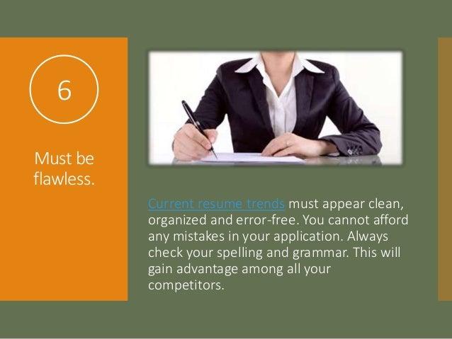 proper spelling of resumes