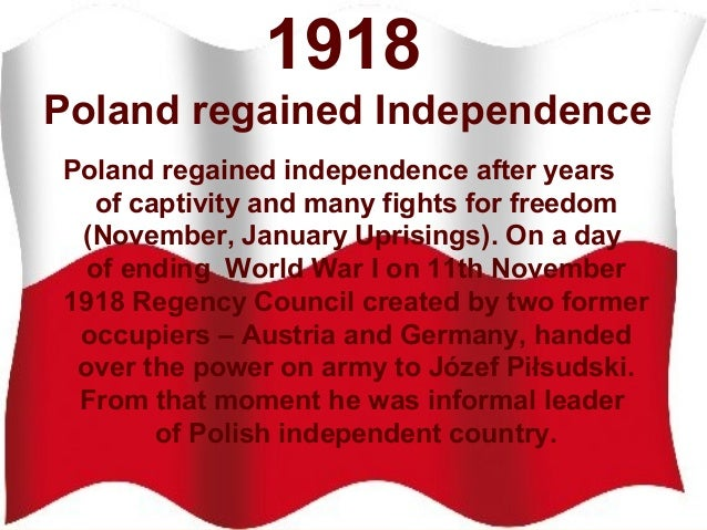 Znalezione obrazy dla zapytania independence day in Poland