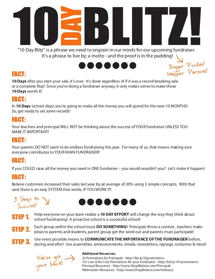 """10 BLITZ!                        DAY   """"10 Day Blitz"""" is a phrase we need to engrain in our minds for our upcoming fundrai..."""