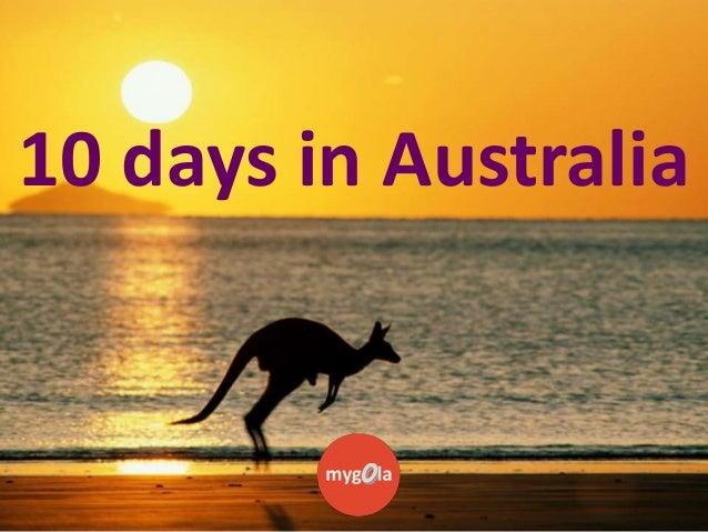 10 days in Australia