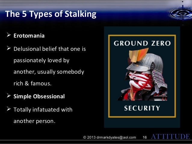 stalking and simple obsession type