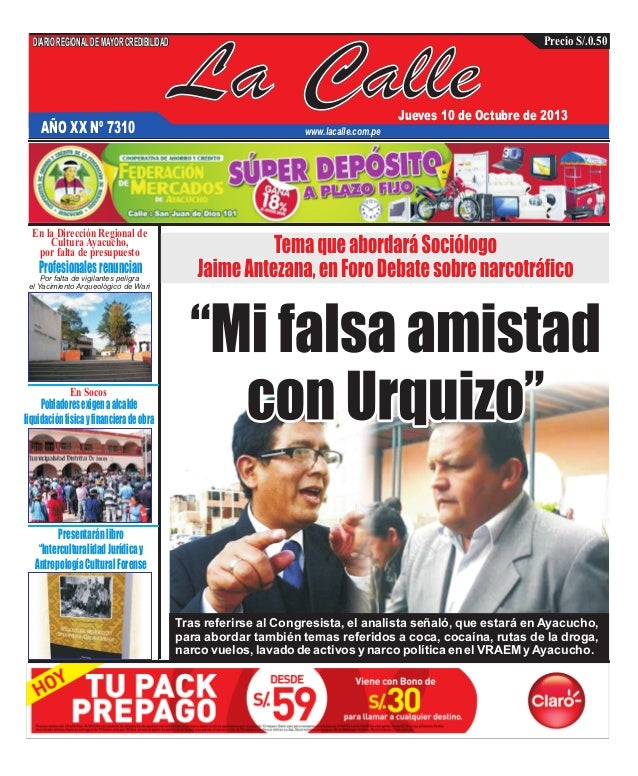 Edición impresa del 10 de octubre del 2013