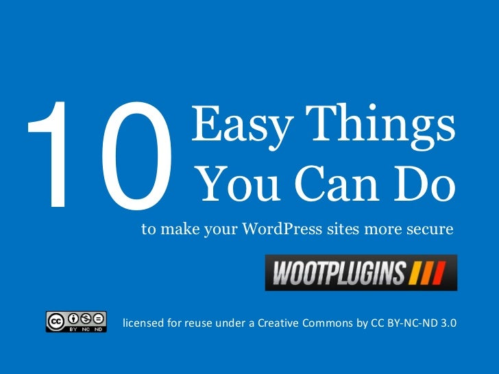 10 Easy Things You Can Do To Make Your Wordpress Site More