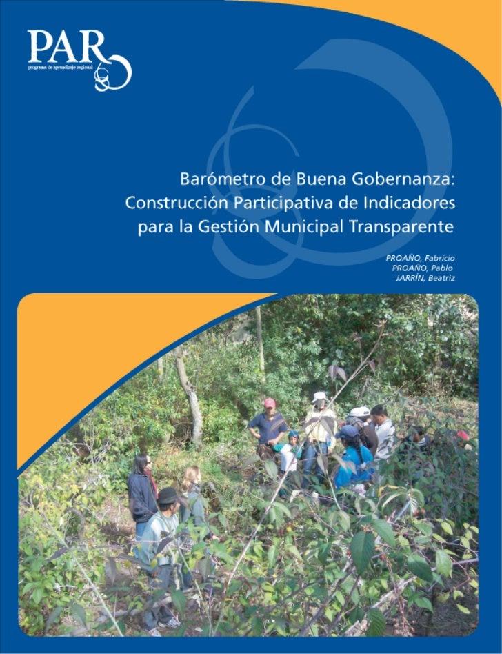 Barómetro de Buena Gobernanza Local                                           Estudio de caso       Barómetro de Buena Gob...