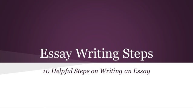 easy steps for writing an essay