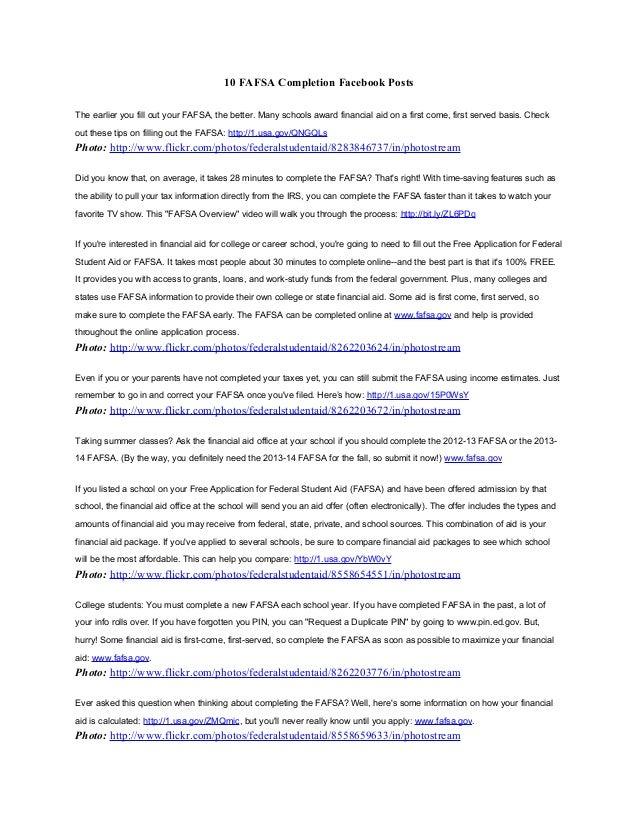 10 fafsa completion facebook posts part 2