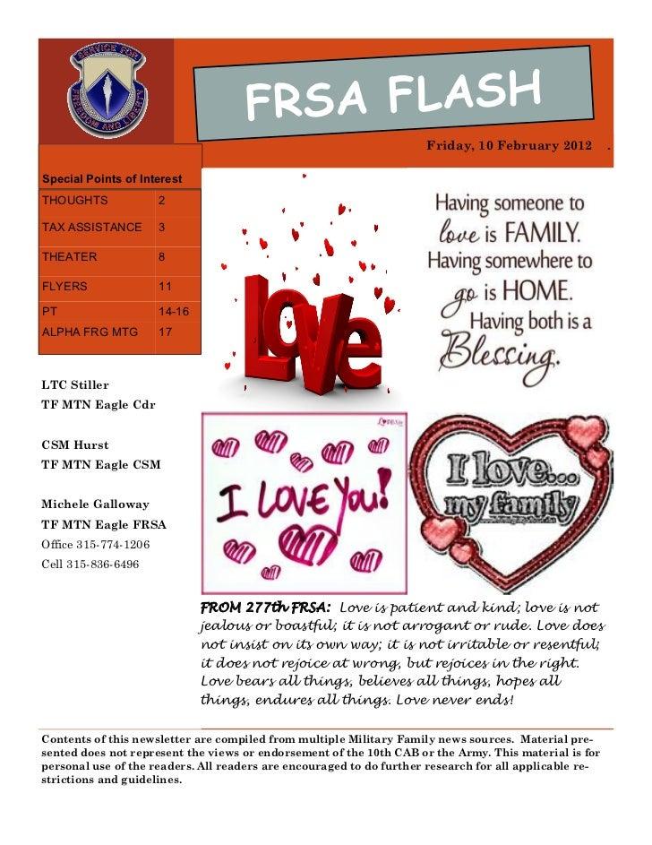 FRSA FLASH                                                                     Friday, 10 February 2012           .Special...