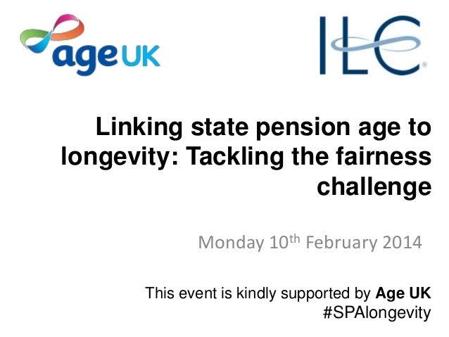 10Feb14 - Linking SPA to Longevity - ILC-UK