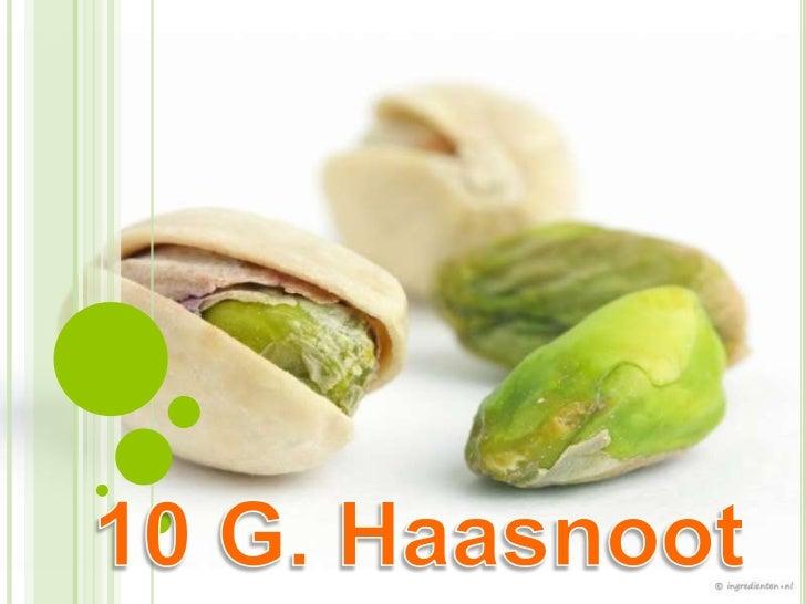 10 g. haasnoot   2