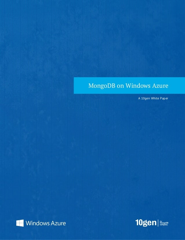 MongoDB on Windows Azure