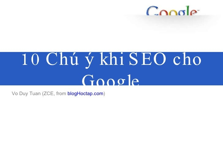 10 Google Seo Tip Share