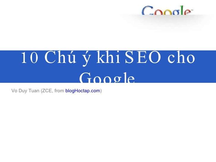 10 Google Seo Tip Share