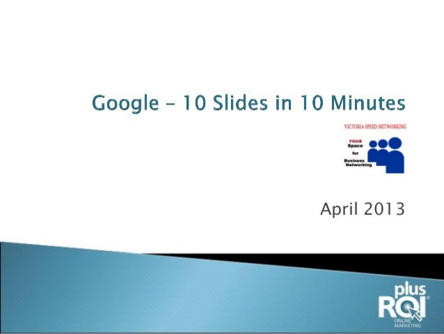 10 Google Slides In 10 Minutes
