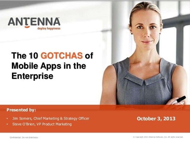 10 Gotchas of Mobile Apps in the Enterprise