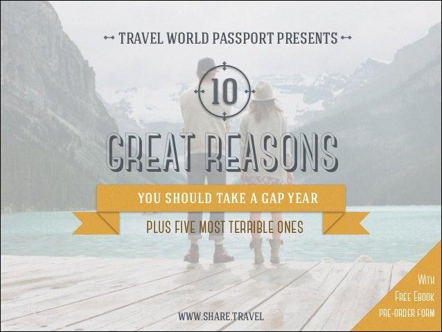 10 Great Reasons to Take a Gap Year