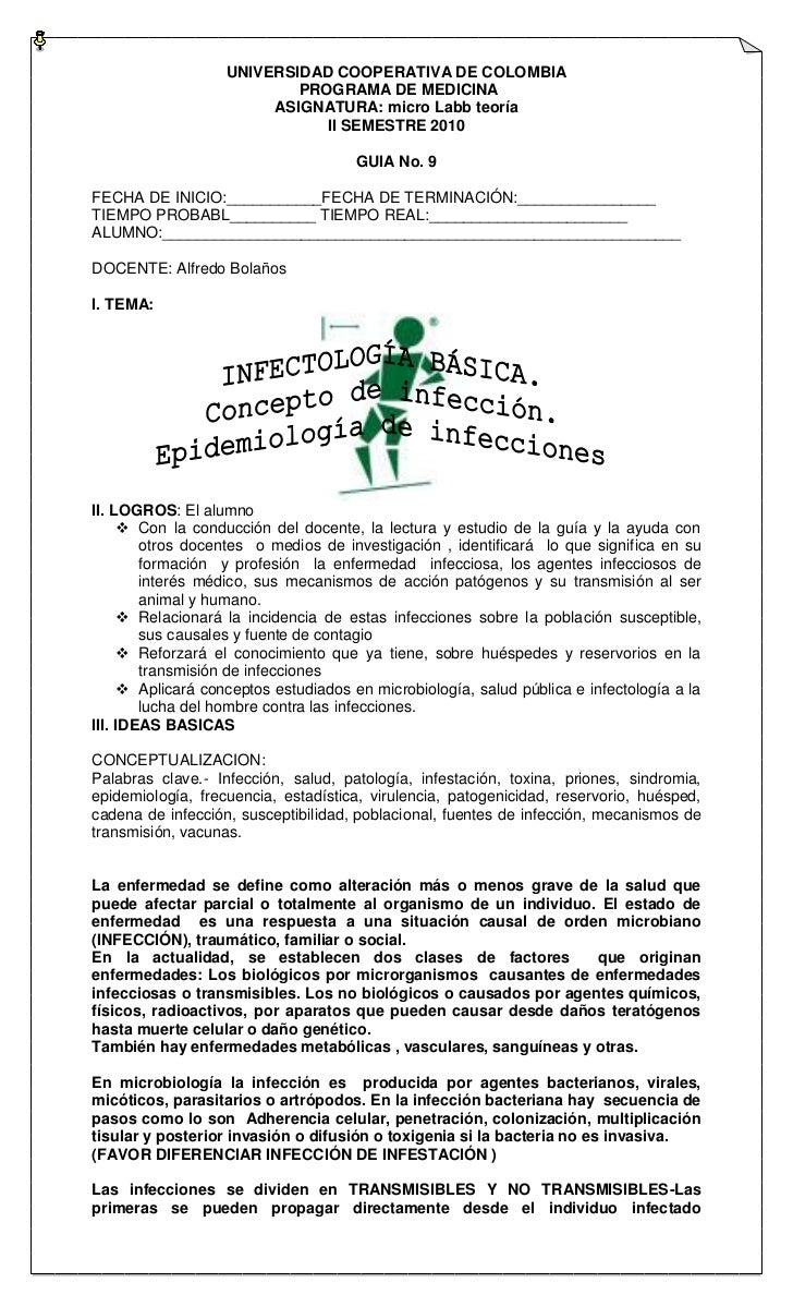 UNIVERSIDAD COOPERATIVA DE COLOMBIA                           PROGRAMA DE MEDICINA                        ASIGNATURA: micr...