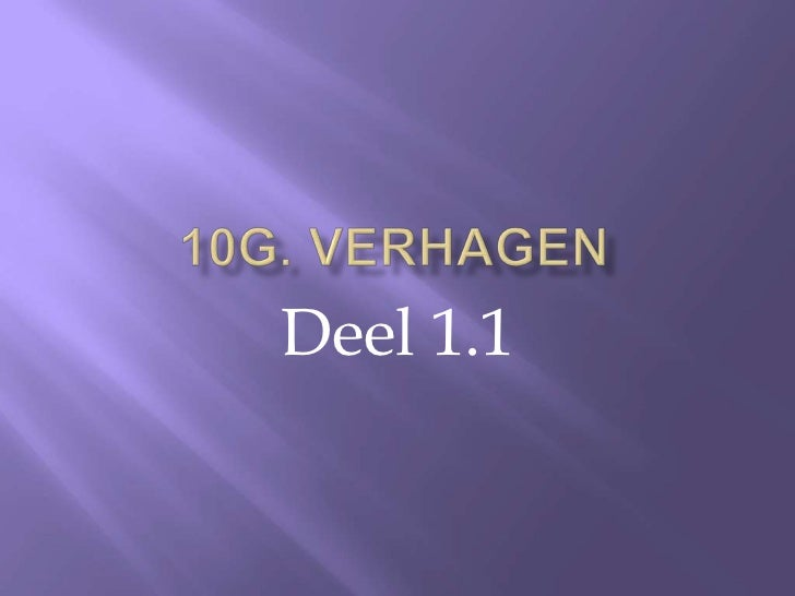 10G Verhagen deel 1.1