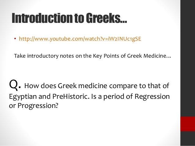 Did religion help or hinder egyptian/greek medicine?