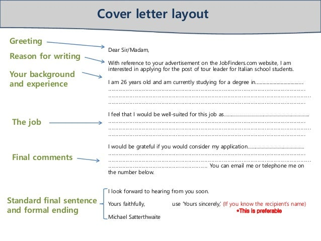 cover letter 2 cover letter structure 3 cover letter template