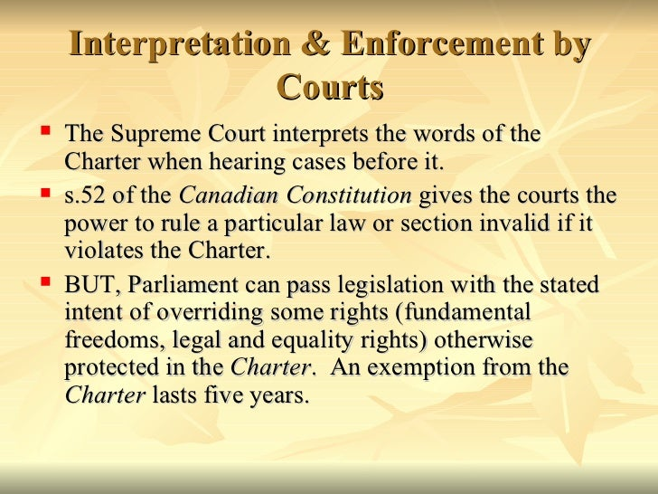 a view on the charter dialogue between the courts and legislatures Form of dialogue between courts and legislatures is also appropriate because it provides us with insight into what willis might have thought about the charter 2 in his justly famous article 'statute interpretation in.